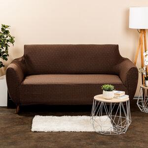 4Home Multielastický potah na sedačku Comfort Plus hnědá, 140 - 180 cm, 140 - 180 cm