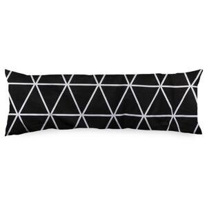 4Home Povlak na Relaxační polštář Náhradní manžel Galaxy černobílá, 45 x 120 cm