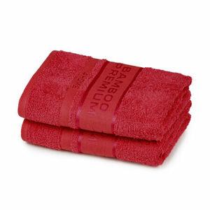 4Home Ručník Bamboo Premium červená, 30 x 50 cm, sada 2 ks