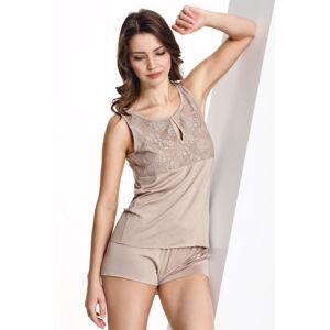 Luisa Moretti Dámské bambusové pyžamo CAMILLA Béžová XL