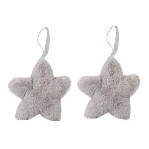 Altom Sada plyšových vánočních ozdob Stars 15 cm, 2 ks, šedá
