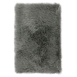 AmeliaHome Kožešina Dokka tmavě šedá, 50 x 150 cm
