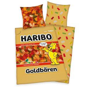 Herding Bavlněné povlečení Haribo Goldbären, 140 x 200 cm, 70 x 90 cm