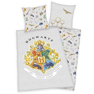 Herding Bavlněné povlečení Harry Potter šedá, 140 x 200 cm, 70 x 90 cm