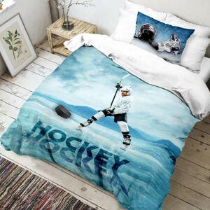 Kvalitex Bavlněné povlečení Hokej 3D, 140 x 200 cm, 70 x 90 cm