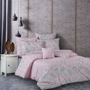 BedTex Bavlněné povlečení Hostid růžová, 220 x 200 cm, 2 ks 70 x 90 cm