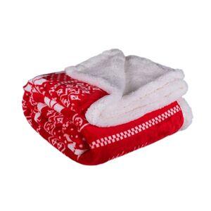 Jahu Beránková deka Winter červená, 150 x 200 cm
