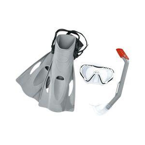 Bestway Šnorchlovací set Firefish šedá – ploutve, brýle, šnorchl