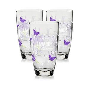 Cerve 3dílná sada sklenic Lavande, 370 ml