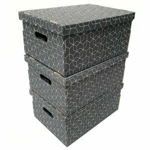 Compactor Sada 3ks skládacích kartonových krabic Compactor - 52 x 29 x 20 cm