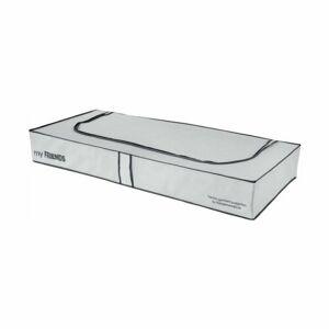 "Compactor Nízký textilní úložný box Compactor ""My Friends""  108 x 45 x15 cm, šedo-bílý"