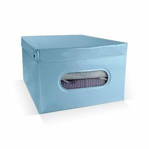 Compactor Skládací úložný box PVC se zipem Compactor Nordic 50 x 38.5 x 24 cm, světle modrý