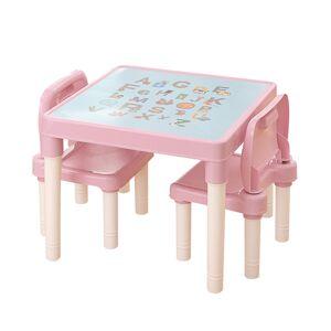 Dětská sasa stolečku a židliček Balto 3 ks, růžová