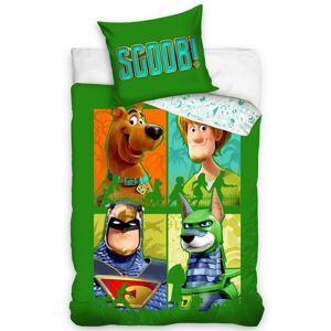 Tiptrade Dětské bavlněné povlečení Scooby Doo Zelená čtyřka, 140 x 200 cm, 70 x 90 cm