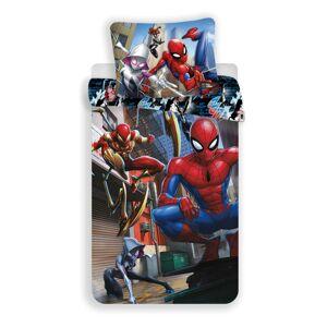 Jerry Fabrics Dětské bavlněné povlečení Spiderman action, 140 x 200 cm, 70 x 90 cm