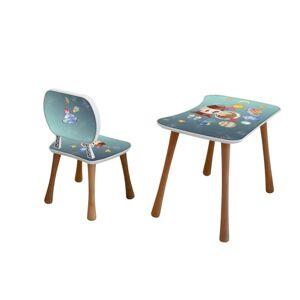 Dětský stolek s židličkou Vesmír, 65 x 41 x 47 cm