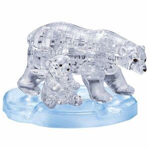 HCM Kinzel 3D Crystal puzzle Lední medvědice s mládětem, 40 dílků