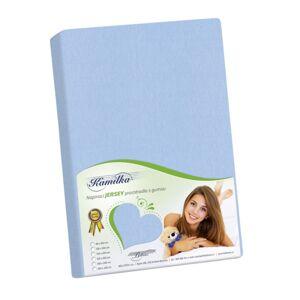 Bellatex Jersey prostěradlo Kamilka světle modrá, 160 x 200 cm