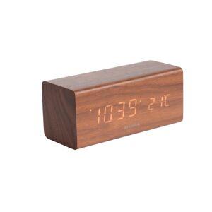 Karlsson 5652DW Designové LED stolní hodiny s budíkem, 16 x 7 cm