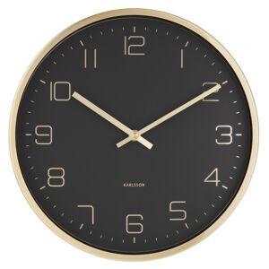 Karlsson 5720BK designové nástěnné hodiny, pr. 30 cm