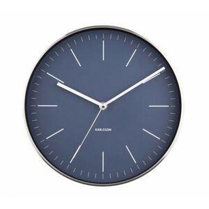 Karlsson 5732BL designové nástěnné hodiny, pr. 28 cm