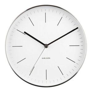 Karlsson 5732WH designové nástěnné hodiny, pr. 28 cm