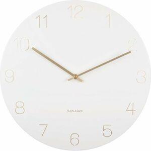 Karlsson 5762WH designové nástěnné hodiny, pr. 40 cm