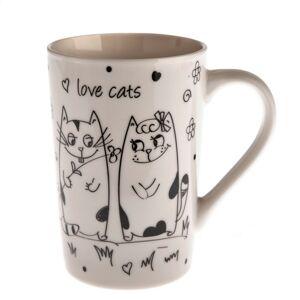 Keramický hrnek Zamilované kočky 380 ml