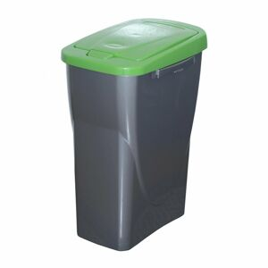 Koš na tříděný odpad zelené víko; 51 x 21,5 x 36 cm; 25 l; plast