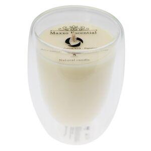 Maxxo Escential Svíčka ve skle Musk, přírodní vosk, 250 g