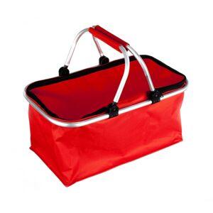 Nákupní skládací košík červená