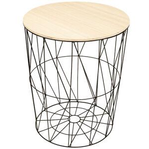 Odkládací stolek Lucan černá, 57 cm