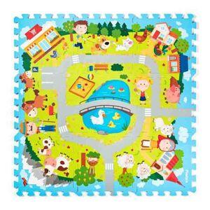 Plastica Pěnové puzzle Vesnice, 9 dílů, 90 x 90 cm