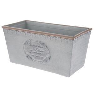 Plastový truhlík Paris, šedá, 31,5 x 15,5 x 15 cm