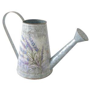 Plechová konvička Lavender, 16 x 22 cm