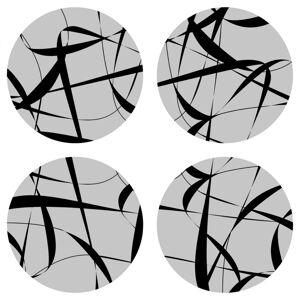 AG Art Podložka pod hrnek Print grey kulatá, pr. 10 cm, sada 4 ks