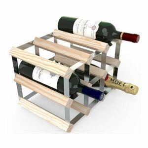 Stojan na víno RTA na 9 lahví, přírodní borovice - pozinkovaná ocel / rozložený