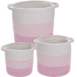Sada dekoračních košíků Hamois 3 ks, růžová