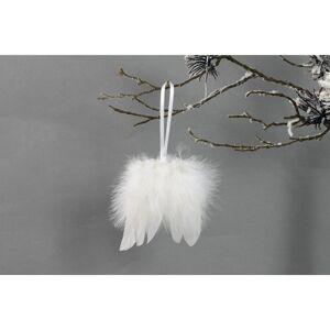 Sada vánočních ozdob Andělská křídla 12 ks, bílá
