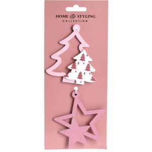 Sada vánočních ozdob Tree and star, 2 ks