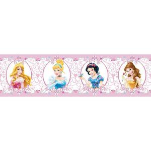 AG Art Samolepicí bordura Princezny, 500 x 14 cm