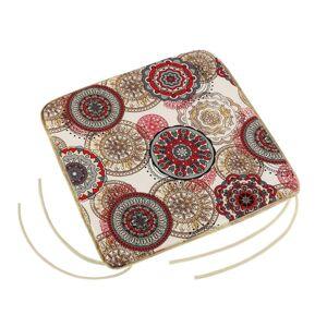Bellatex Sedák Adéla hladký Mandala červená, 40 x 40 cm
