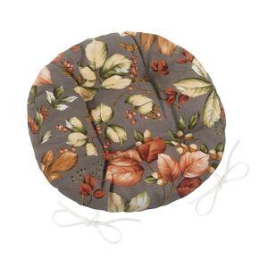 Bellatex Sedák Ema kulatý prošívaný Listí, 40 cm