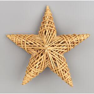 Slaměná dekorace Hvězda, 25 x 25 cm