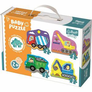 Trefl Baby puzzle Vozidla na stavbě 4v1 3, 4, 5, 6 dílků