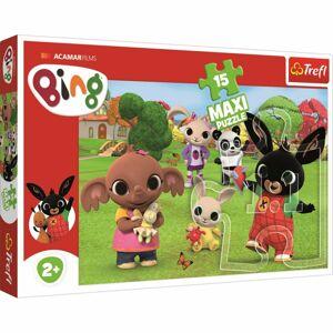 Trefl Maxi puzzle Bing s přáteli, 15 dílků