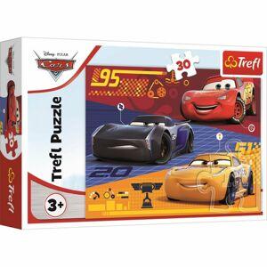 Trefl Puzzle Auta před závodem, 30 dílků