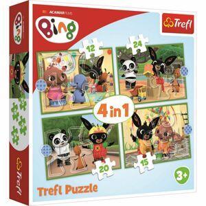 Trefl Puzzle Bing Šťastný den 4v1 12, 15, 20, 24 dílků