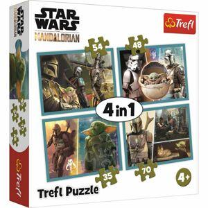 Trefl Puzzle Mandalorian a jeho svět 4v1 35, 48, 54, 70 dílků