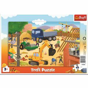 Trefl Puzzle Na staveništi, 15 dílků